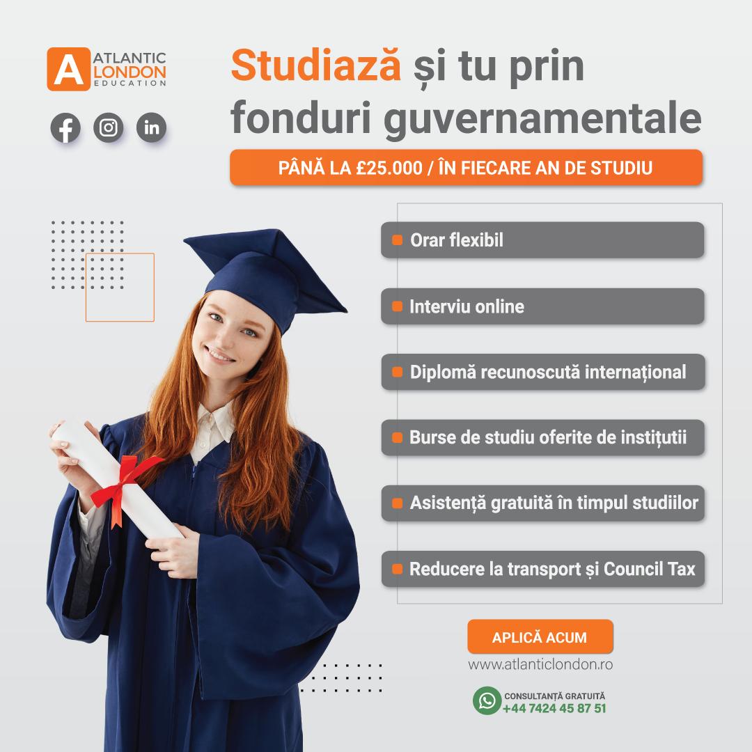 Studiaza in Londra fara diploma. £25.000/an fonduri guvernamentale