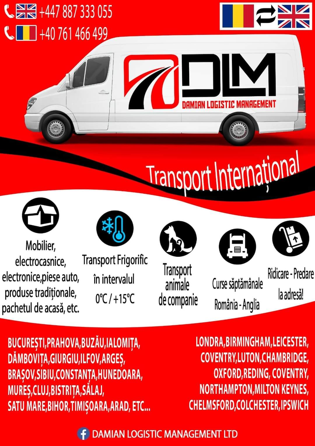 Transport international Romania Anglia‼️