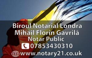 Notar Roman in Londra, Notar Roman Londra